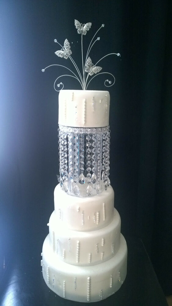 how tall should a wedding cake stand be tear drop design cake separators amp matching 15563