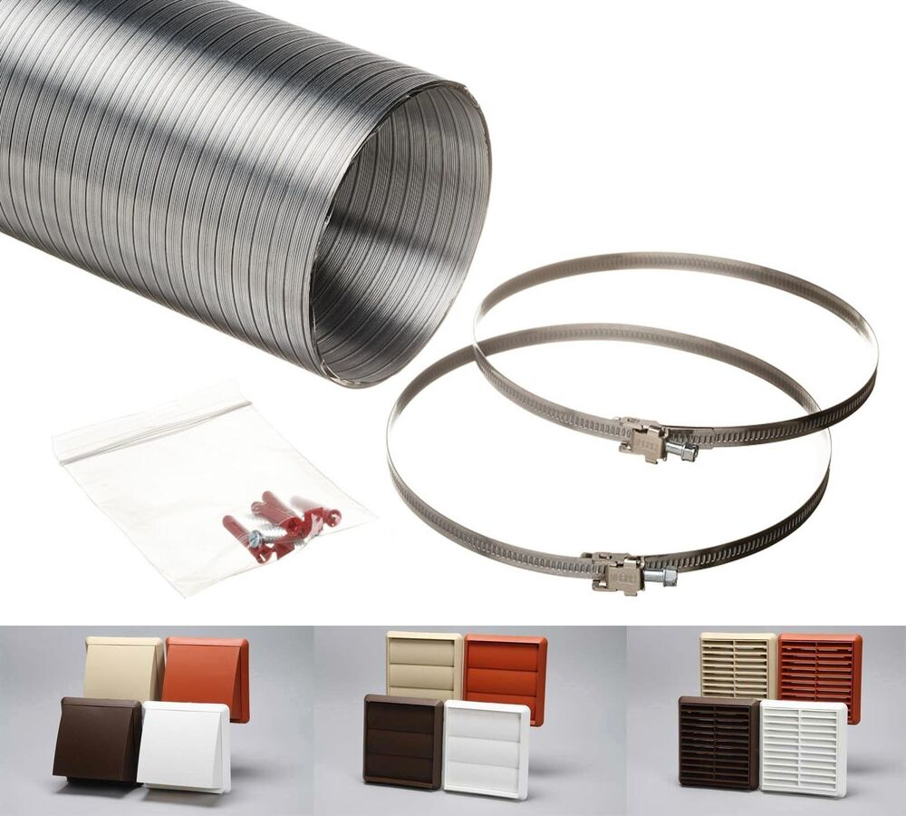 6 Duct Fan Roof Vent Kit : Cooker hood venting kit kitchen ducting extractor fan