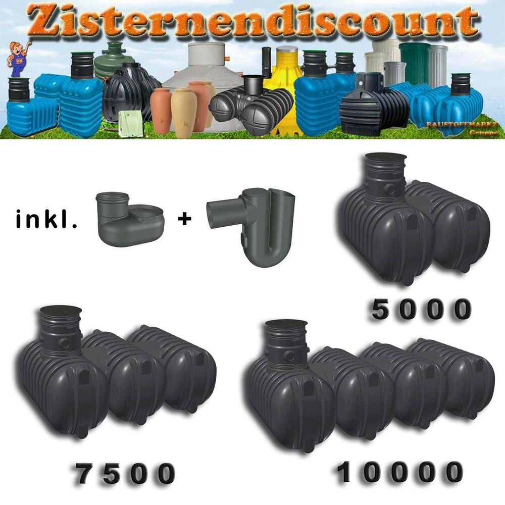 regenwasser tank zisterne erdtank speicher bs starter aquiri rikutec ebay. Black Bedroom Furniture Sets. Home Design Ideas