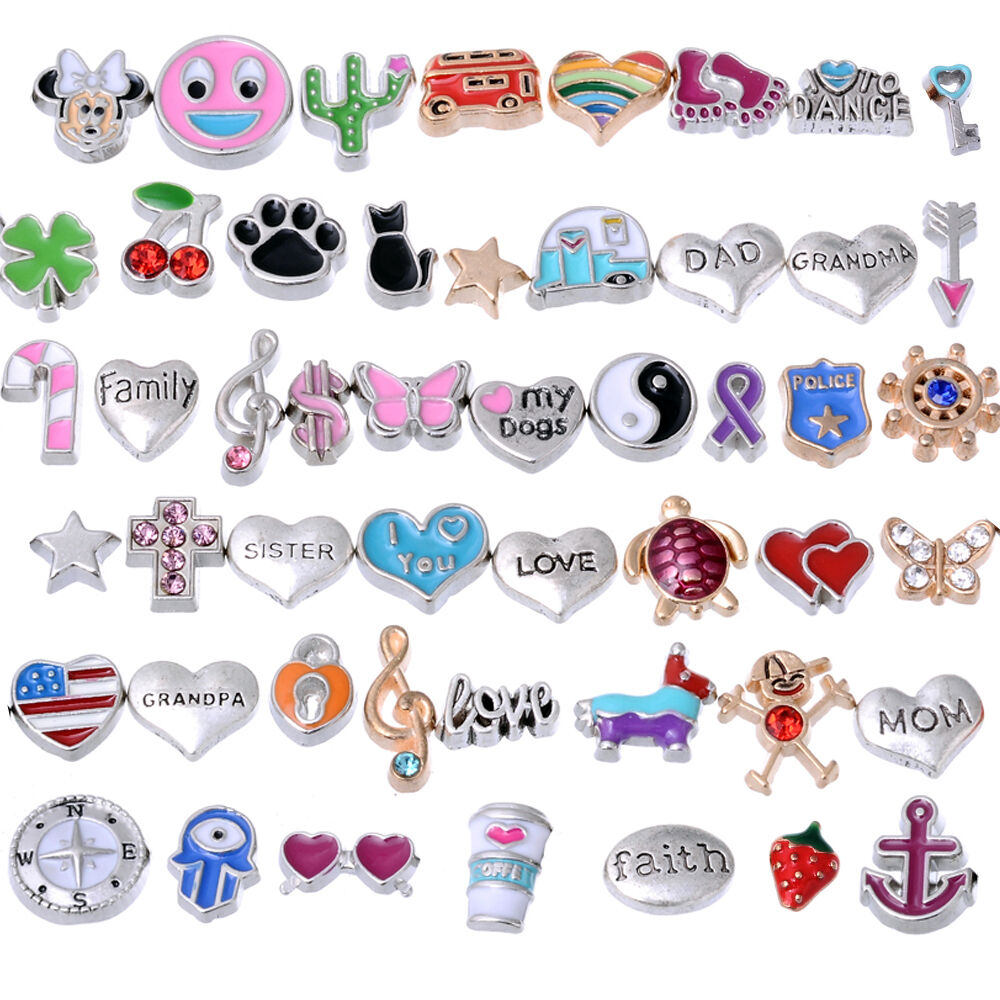 rubyca wholesale floating charms lot fit living memory