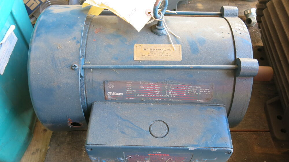Ge 10 hp 3 phase electric motor used ebay for 10 hp 3 phase motor
