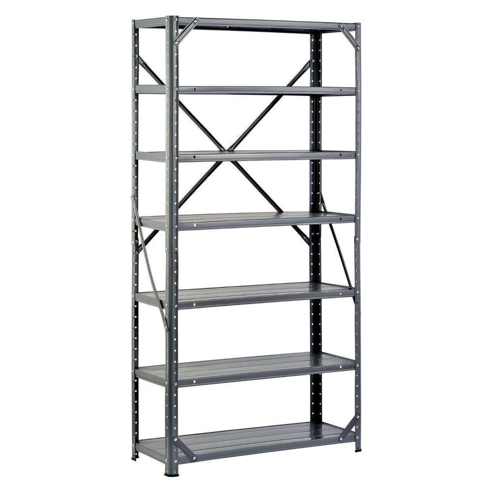 steel shelving unit heavy duty metal storage shelves rack. Black Bedroom Furniture Sets. Home Design Ideas