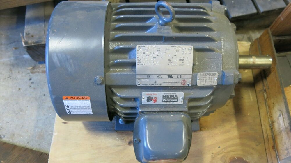 Emerson h10p2b 10 hp 3 phase electric motor used ebay for 10 hp single phase motor