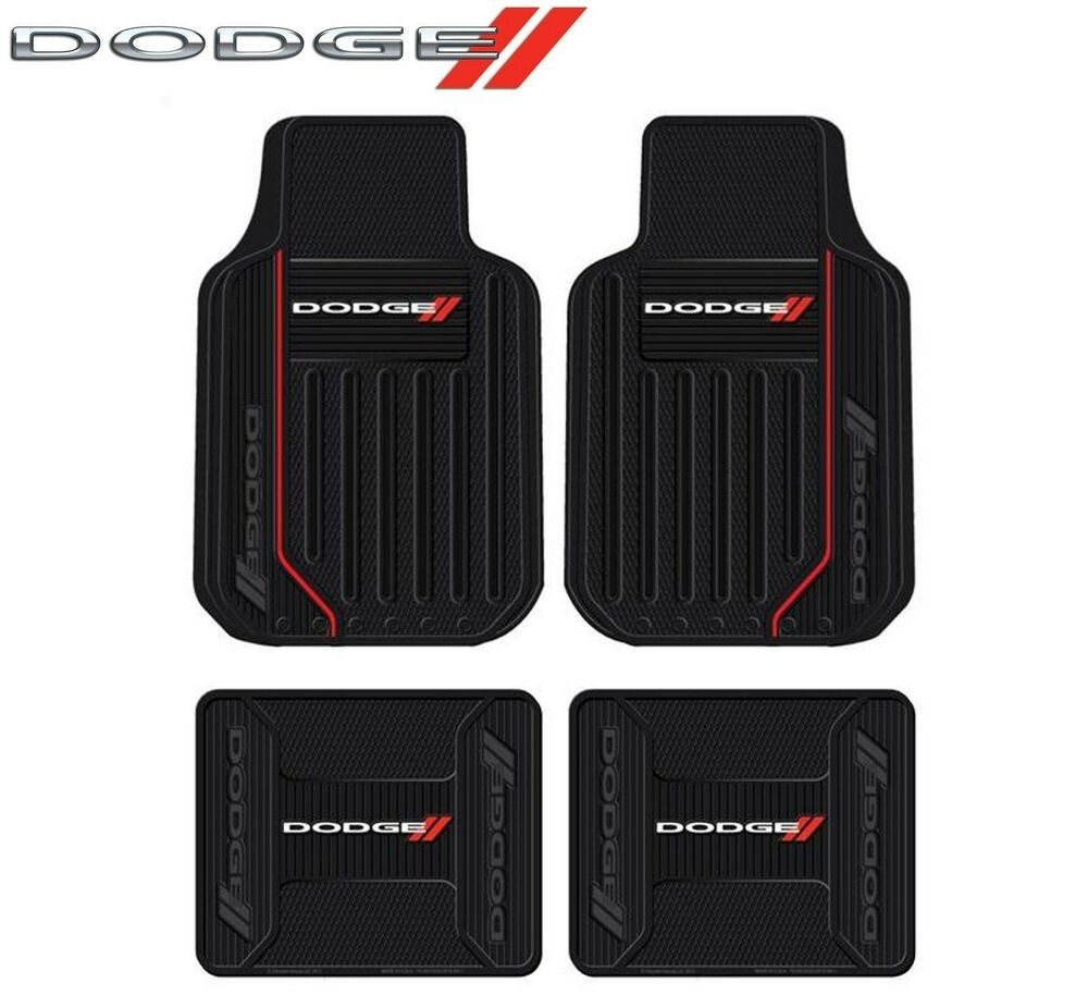 4 Pc Dodge Logo Elite Floor Mats Fits Charger Challenger
