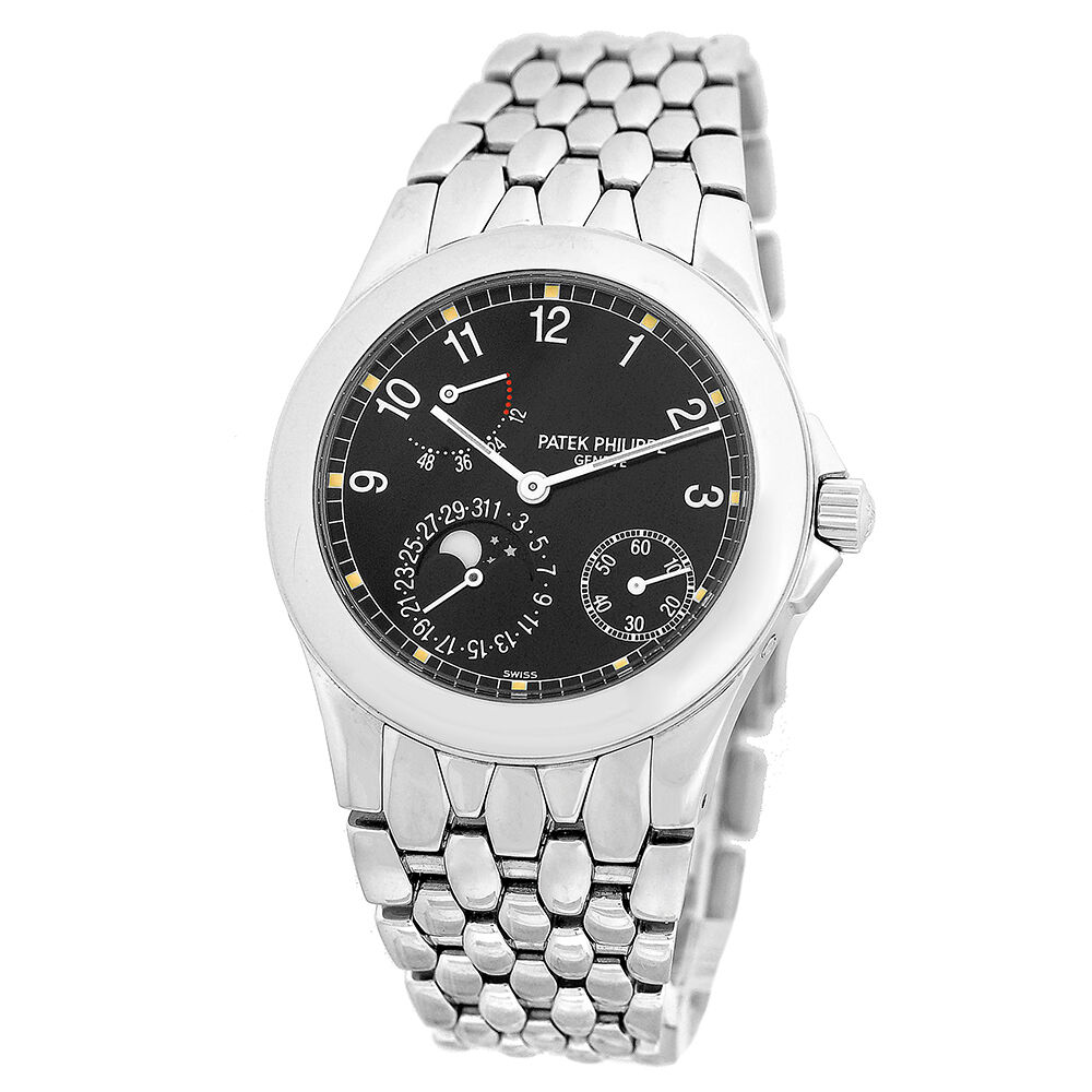 Patek philippe 5085 1a stainless moonphase date power reserve 5085 warranty box ebay for Patek philippe moonphase