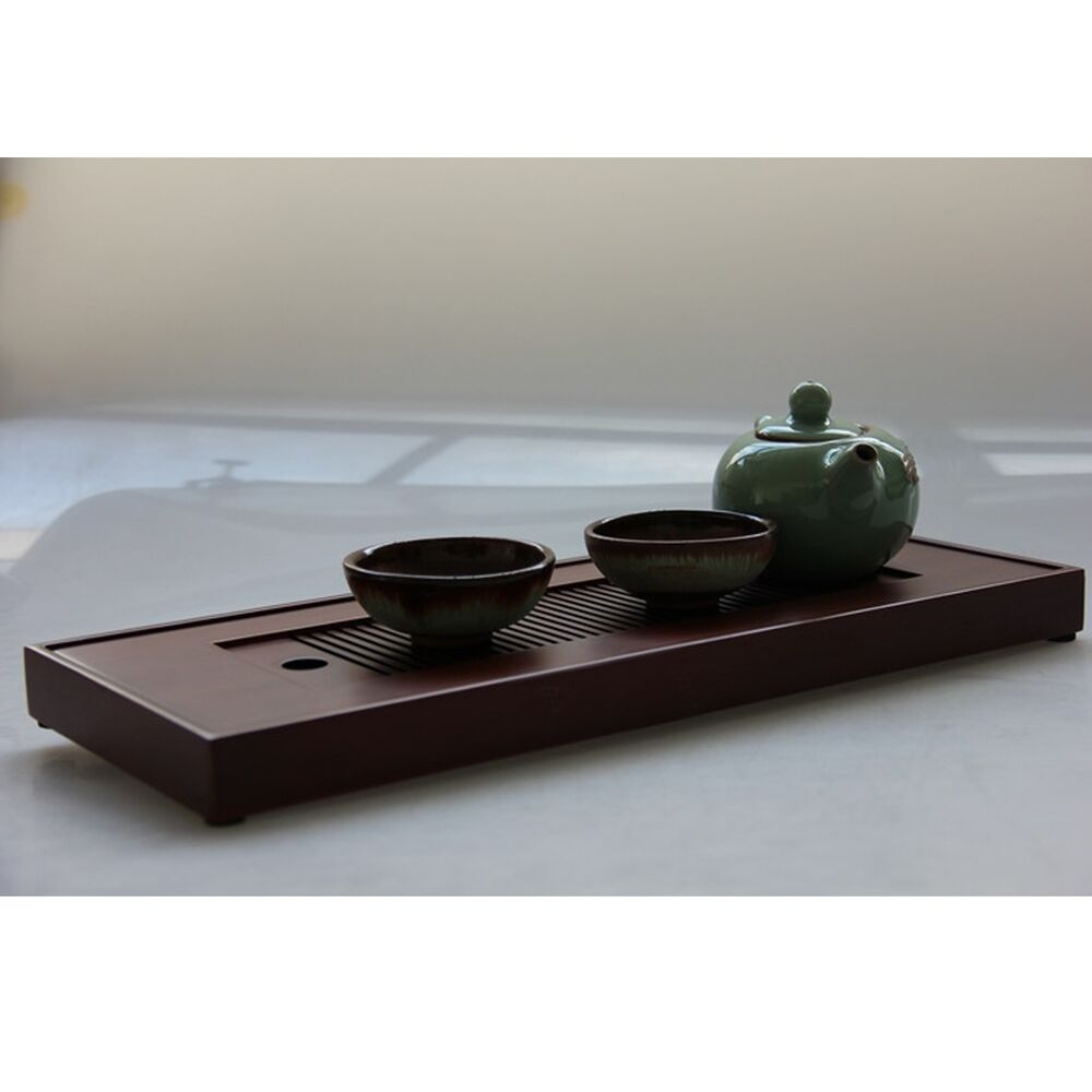 New Bamboo Gongfu Tea Tray Chinese Serving Table 38 15 2