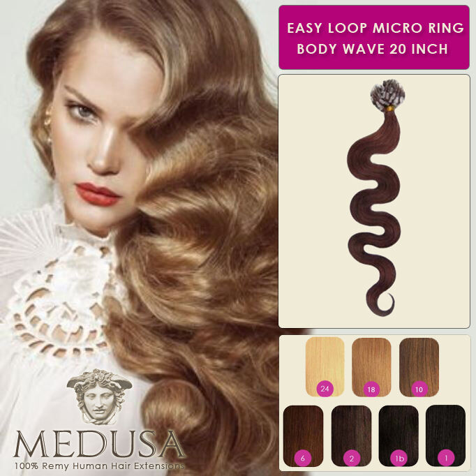 Medusa Wavy Body Wave Easy Loop Micro Ring Remy Human Hair