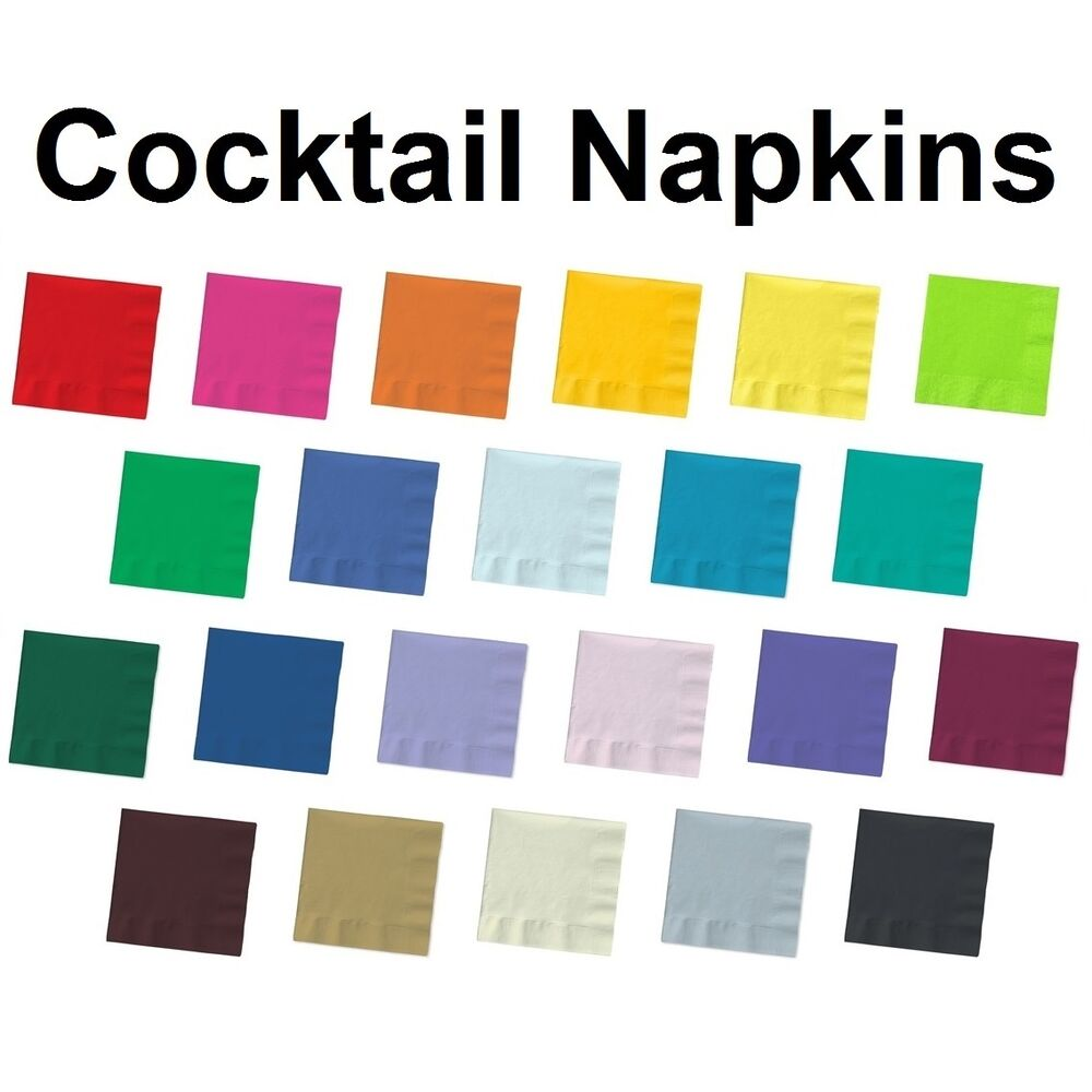 paper party napkins Find bulk paper napkins in 28 solid colors & special printed designs visit my paper shop for wholesale discounts.