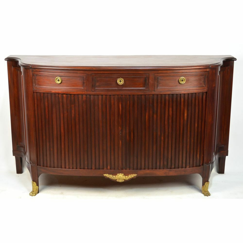 antique french ormulu mounted louis xvi mahogany buffet sideboard ebay. Black Bedroom Furniture Sets. Home Design Ideas