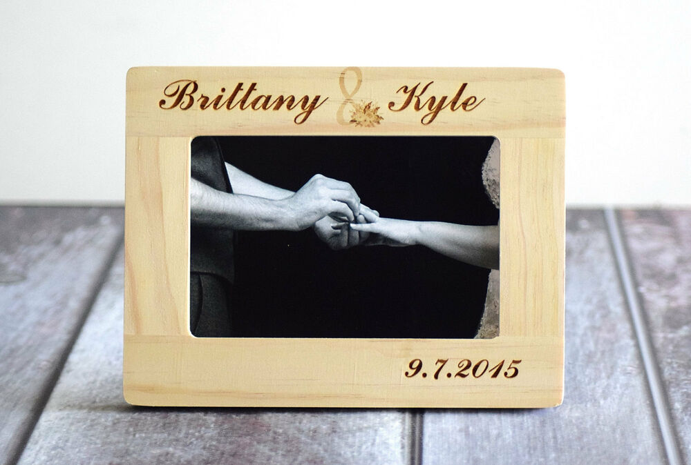 Personalized Wedding Picture Frame Engraved Wood Frame 4x6 ...