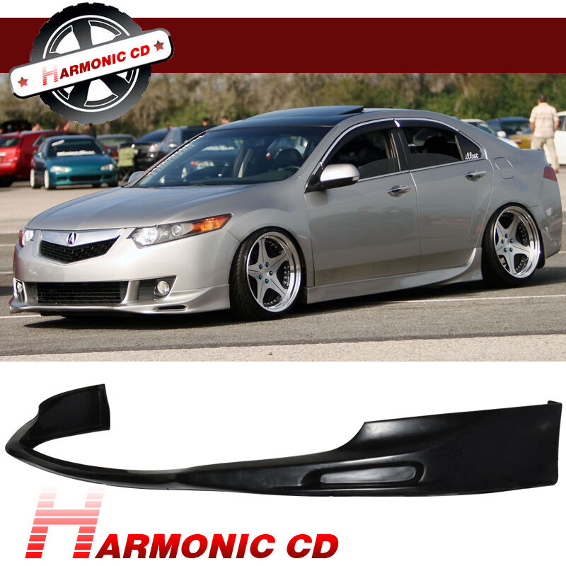 New Fit For 09-10 Acura TSX Sedan 4DR PU Front Bumper Lip