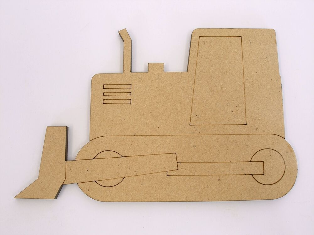 wooden craft shapes one wood wooden bulldozer shape mdf 10cm high craft 3257