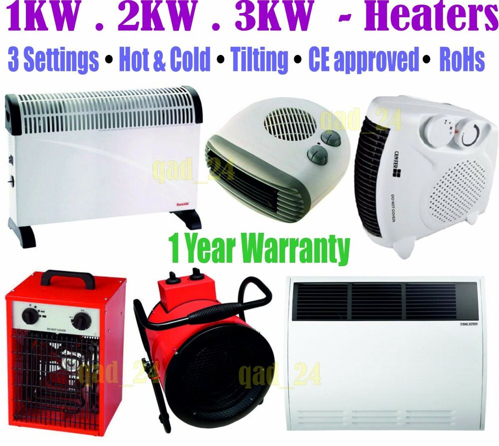 Heaters Electric Thermostat Portable Wall Mount 750w
