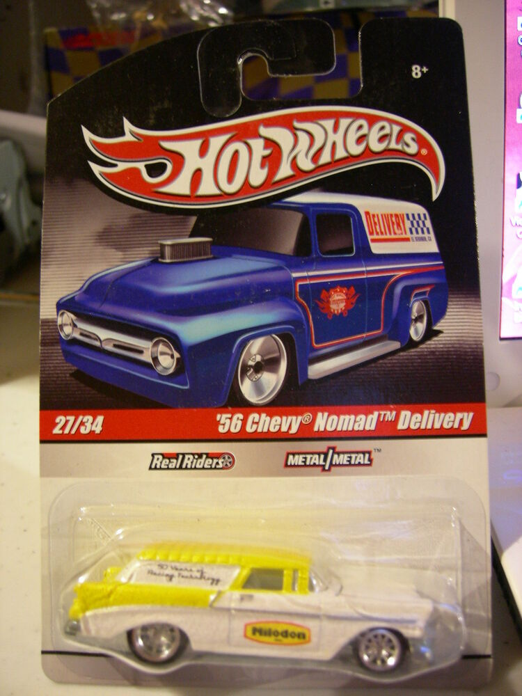 hot wheels real riders 56 chevy nomad delivery 27 of 34 milodon white ebay. Black Bedroom Furniture Sets. Home Design Ideas