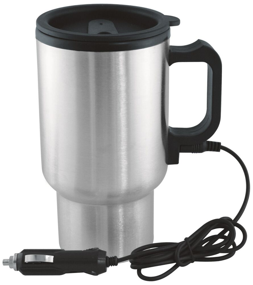 12v In-Car Thermos Thermal Heated Travel Mug Cup ...