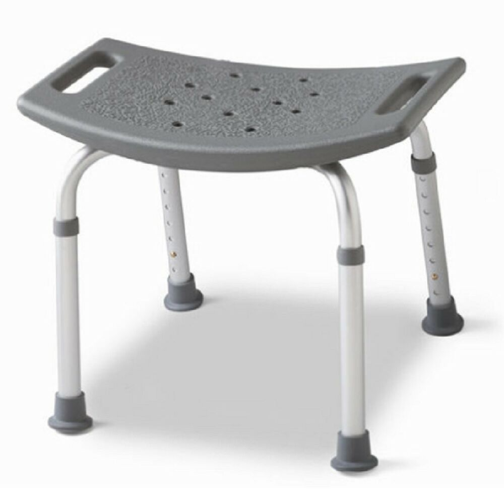 Backless Bath Bench Adjustable Shower Stool Seat Bathtub