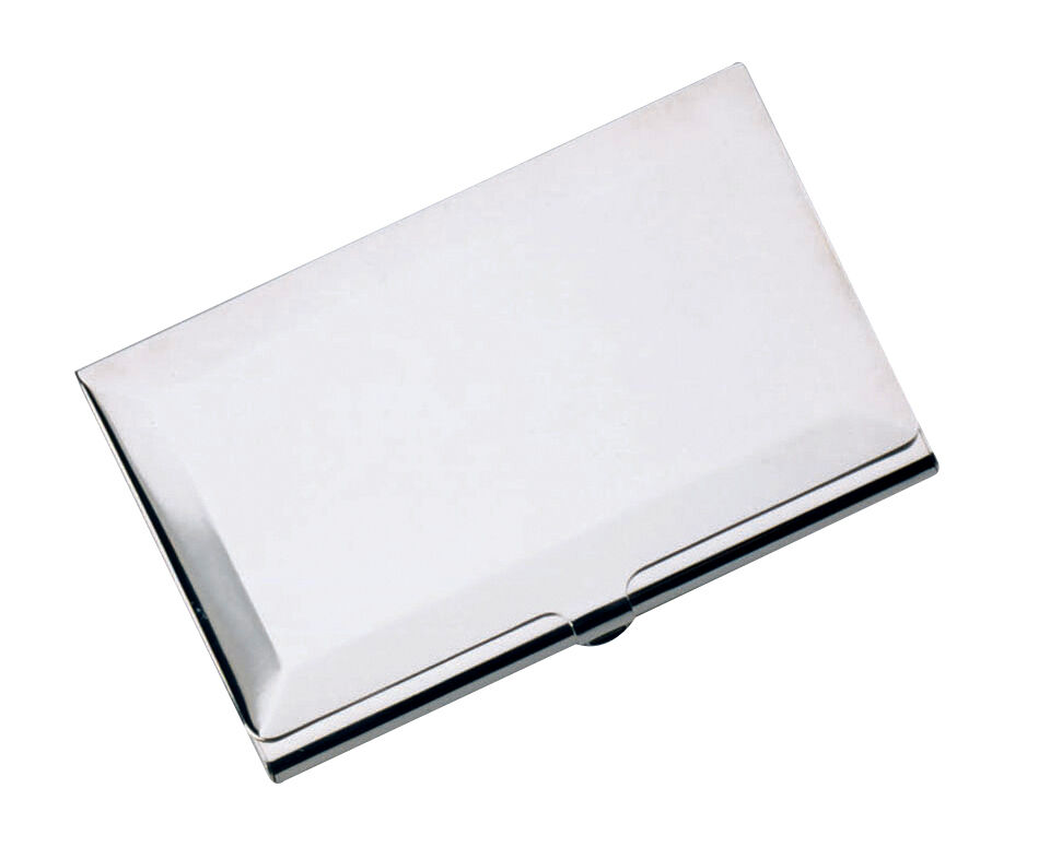 SILVER PLATED BUSINESS CARD CREDIT CARD CASE HOLDER NEW