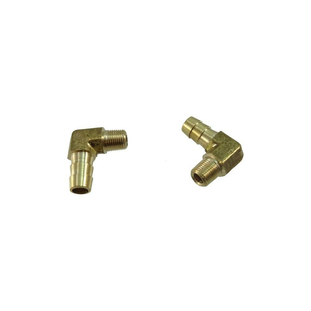 Brass elbow barb fitting quot hose npt fuel boat