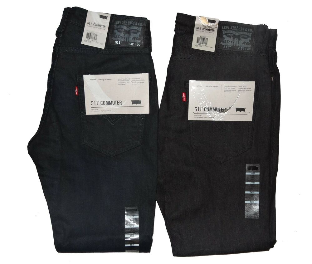 levi 39 s men 39 s 511 slim fit commuter jeans nwt 28 29 30 31. Black Bedroom Furniture Sets. Home Design Ideas