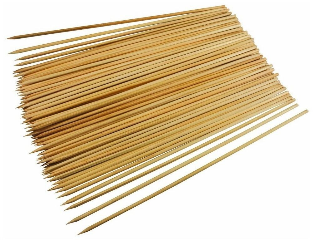 15 25CM BBQ Bamboo Skewers Paddle Sticks Wooden Grill