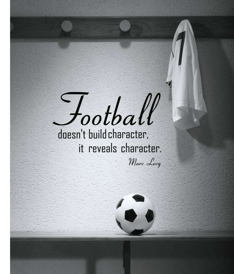 football motivational sport quote wall art decal