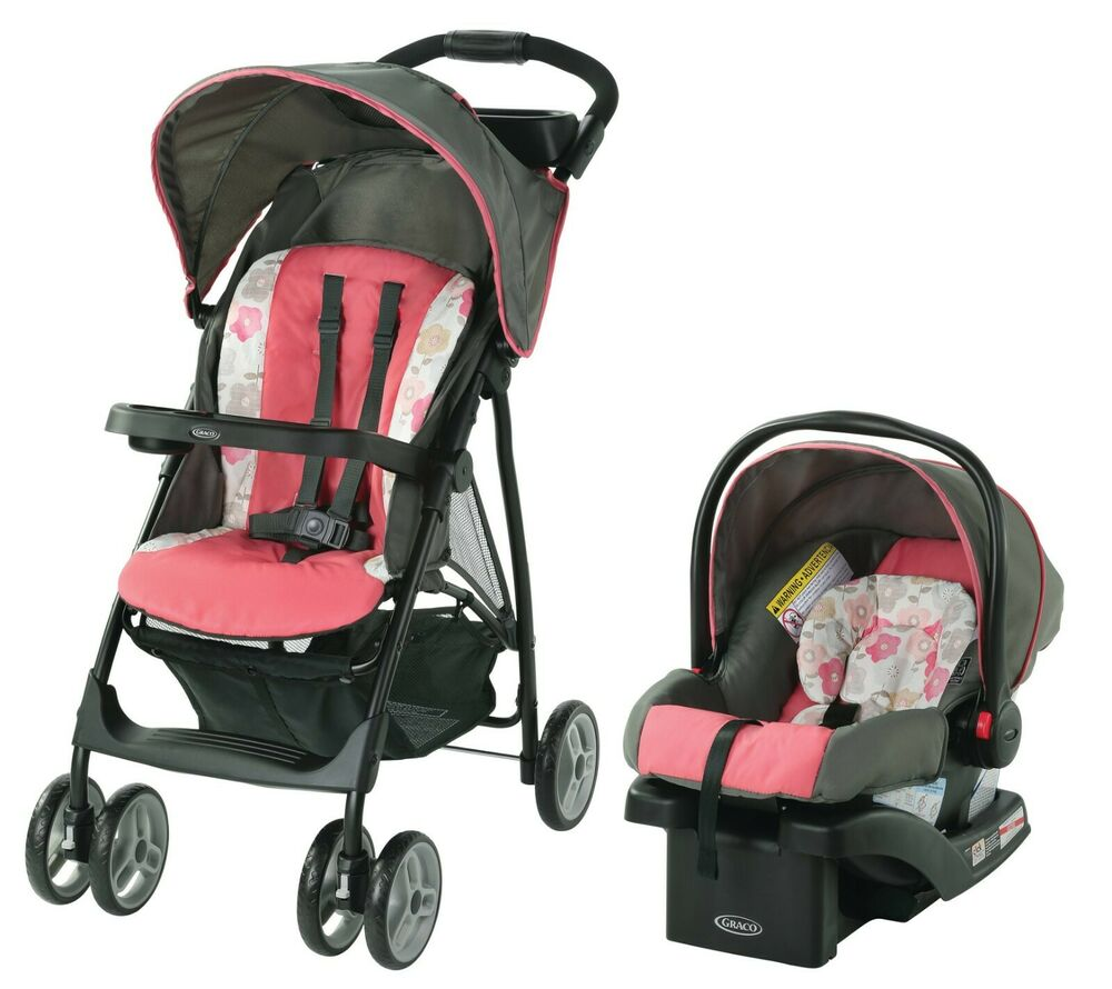 Graco Stroller Car Seat Red Travel System Infant Baby Kids