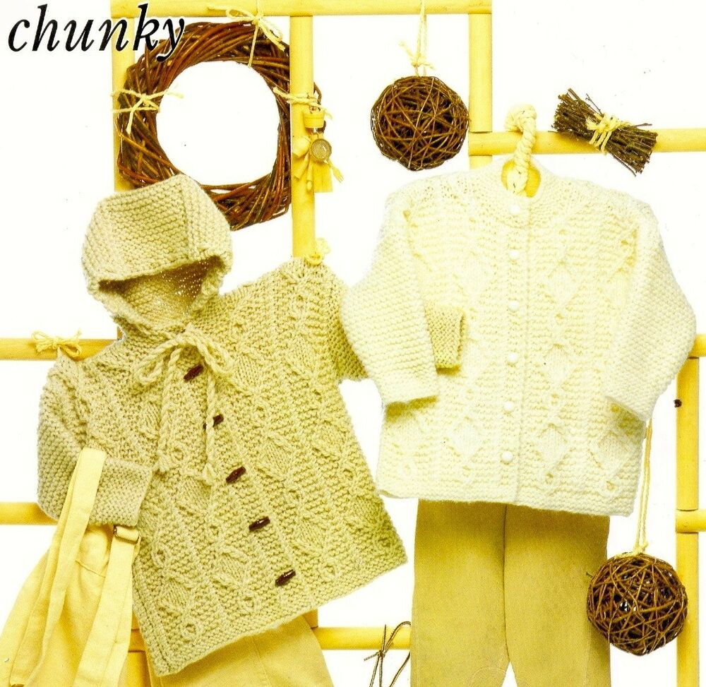 Knitting Pattern For Toddler Duffle Coat : (211) Boys Girls Hooded Duffle Coat & Jacket Chunky ...