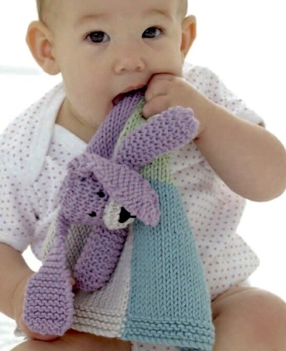 Aran Knitting Patterns For Babies : (216) Aran Knitting Pattern for Baby Comforter Dog eBay