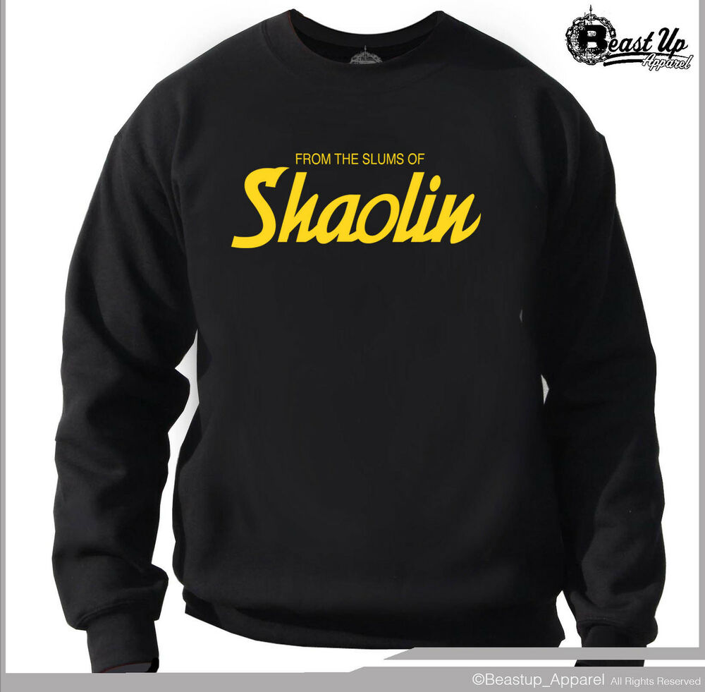 wu tang clan from slums of shaolin crew neck sweater. Black Bedroom Furniture Sets. Home Design Ideas