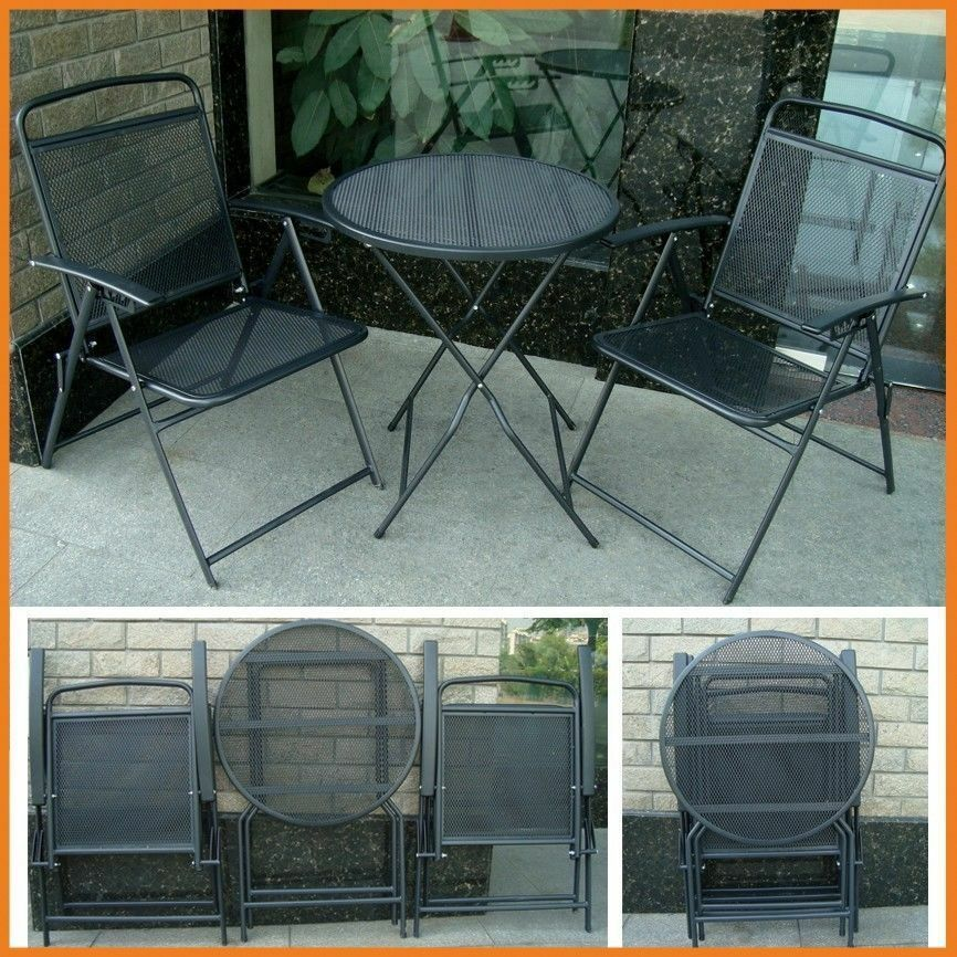 Details About Patio Table Set And Chairs Outdoor Furniture Wrought Iron Cafe Bistro