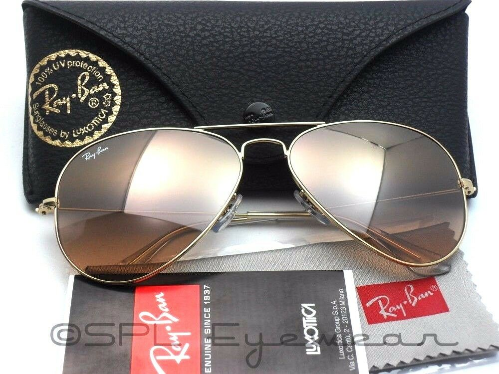 Ray Ban Aviator Gradient Rb 3025 001 3e 58 14 Gold Pink