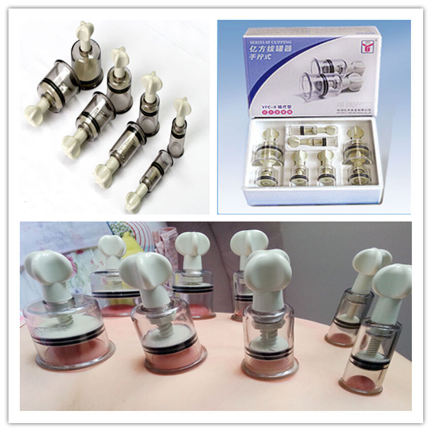 Cupping Treatment: Medical Twist Cupping 8cups Magnet Massage Vacuum Therapy