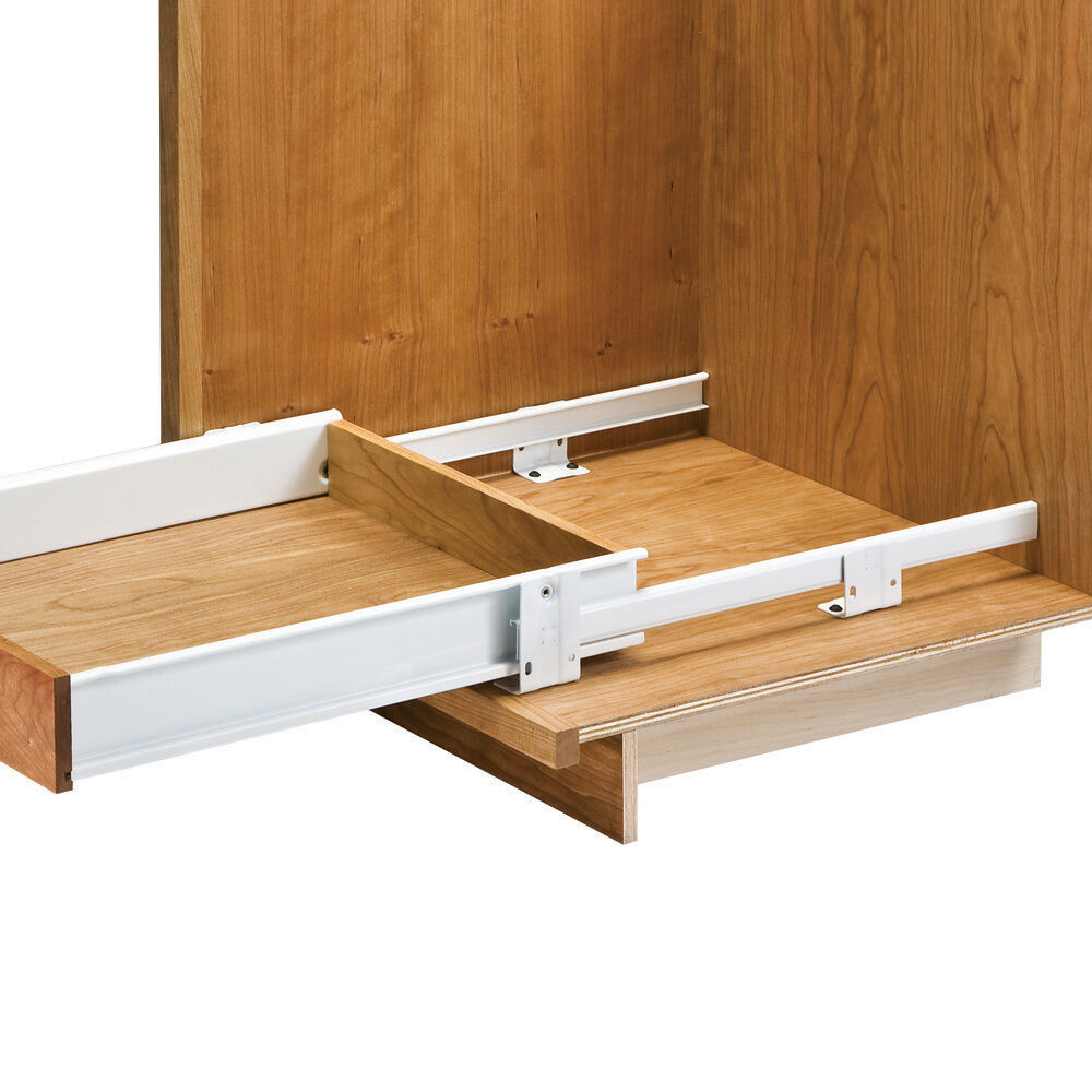 """Pull Out Pantry Hardware: 21"""" Floor Mounted Slides Pantry Pull-Out (with Metal Sides"""