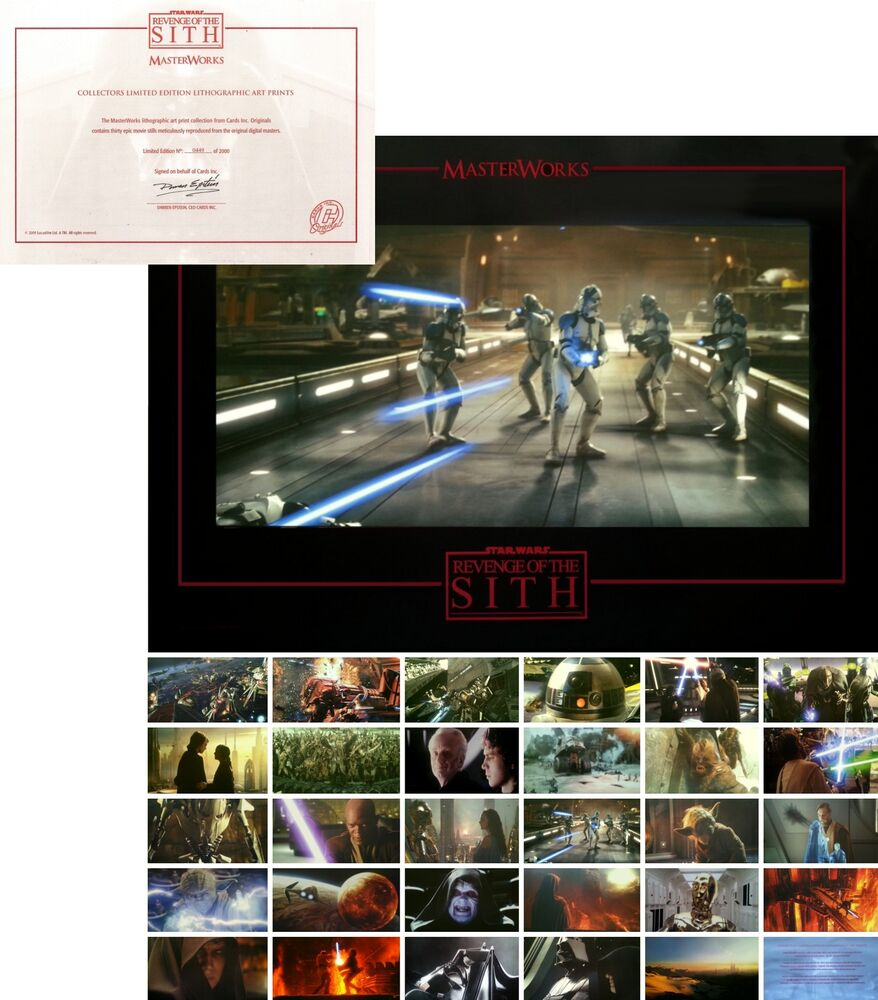 Star wars limited edition lithographic art prints buy 2 for Buy art posters online