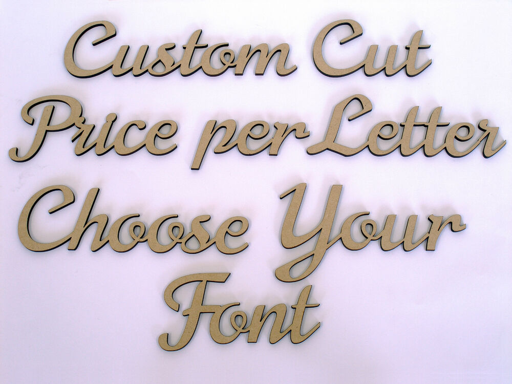 Custom Wooden Names Craft Wood MDF Cut Out 8cm Tall Price Is Per
