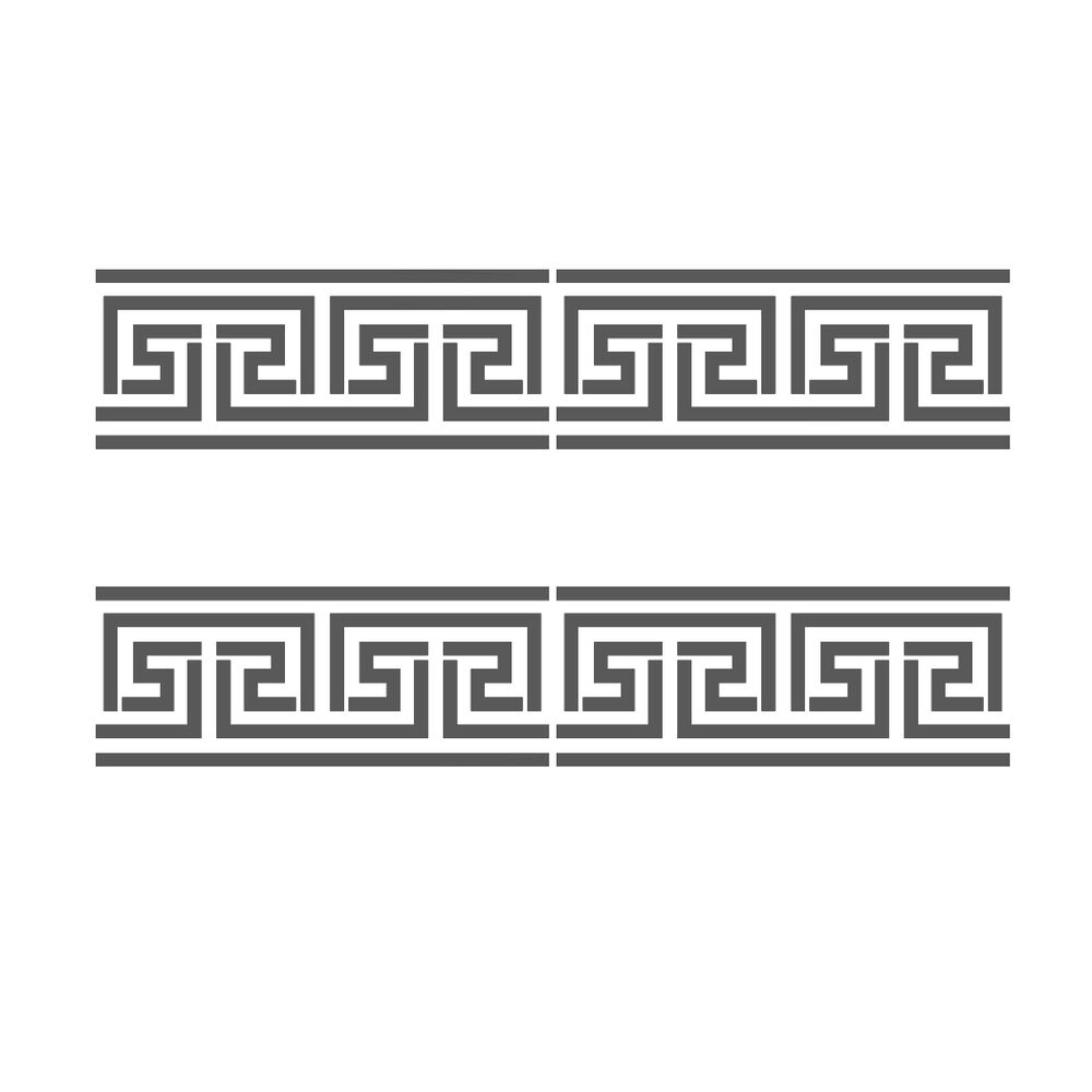 Greek Key Side Border Stencil #2 reusable Template for Crafting Wall ...