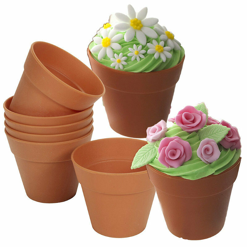 Lakeland Cake Decorating Moulds : Lakeland Reusable Silicone Flowerpot Muffin & Cake Moulds ...