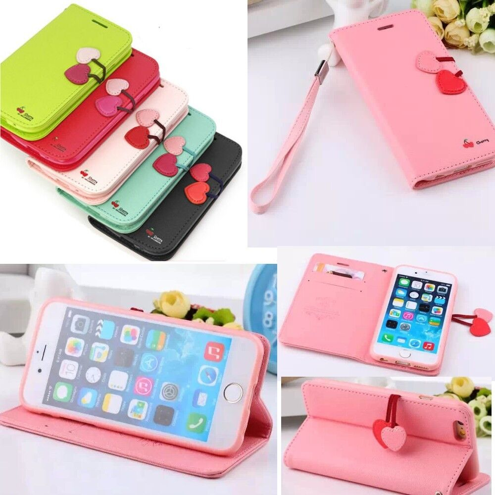 cute iphone 6 cases wristlet flip leather soft tpu cover for iphone 13933