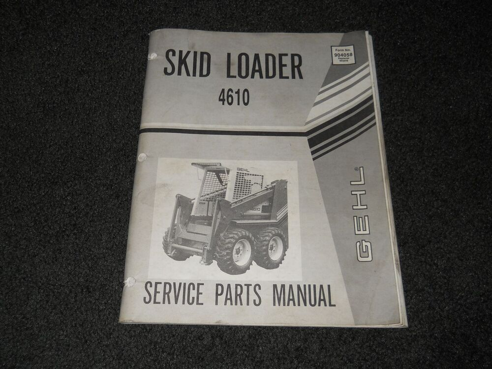 Free Gehl skid Steer Manual