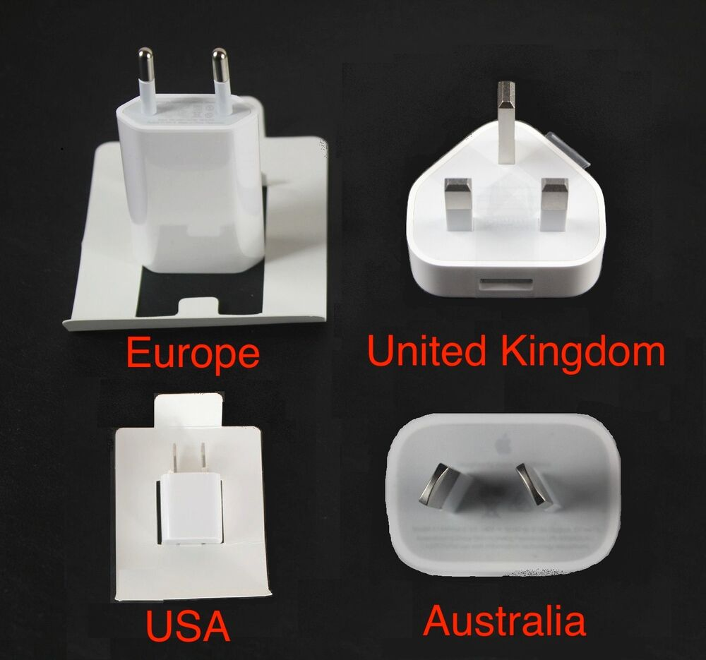 original genuine apple 5 watt 5w eu usa uk au usb power. Black Bedroom Furniture Sets. Home Design Ideas