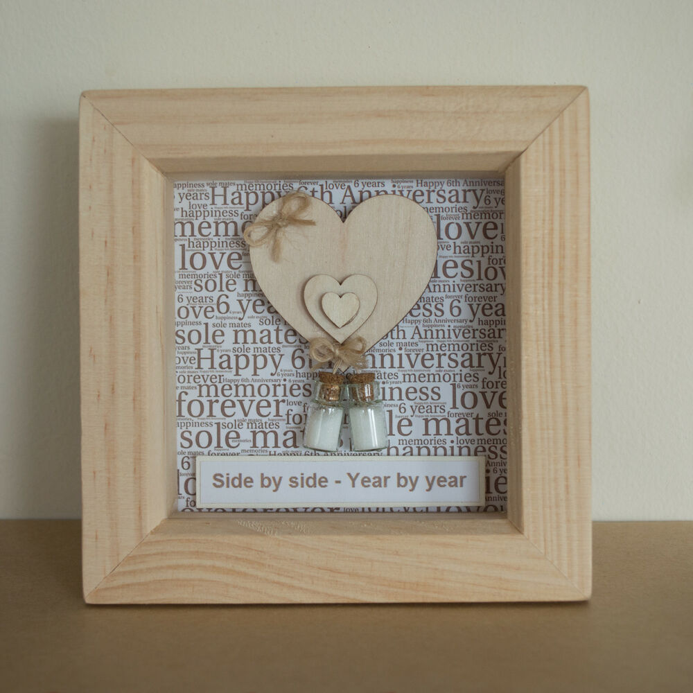 List Of Traditional Wedding Anniversary Gifts Uk : 6th Wedding Anniversary Present (Traditional Sugar) Gift Keepsake ...