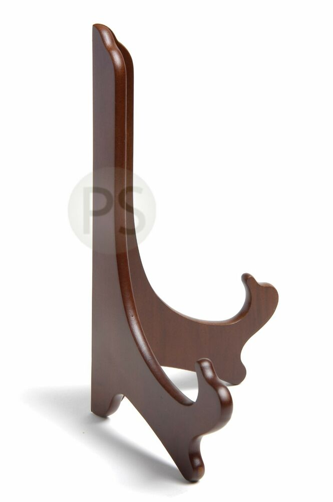 Wooden Exhibition Stand : Wooden display stand easel wood walnut small medium