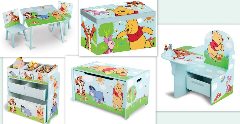 disney winnie pooh kinderm bel m bel couch kindersessel spielzeugbox stuhl regal ebay. Black Bedroom Furniture Sets. Home Design Ideas