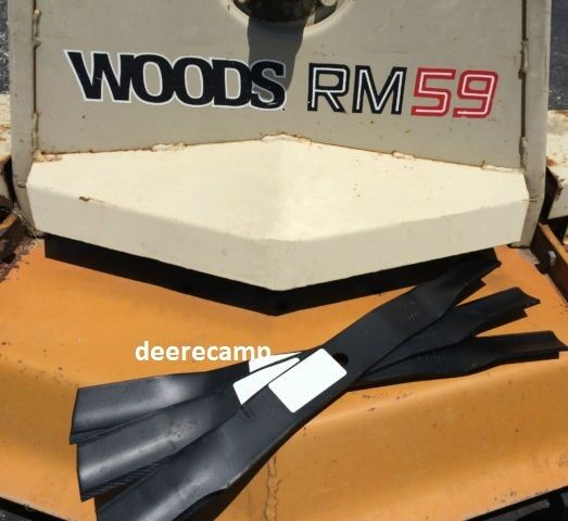 Woods 60 Quot Mower Blades Replaces Part 23825 Set Of 3 For