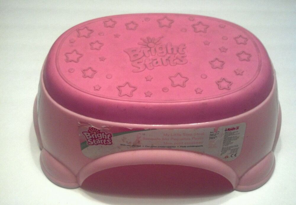 Bright Starts Pink Step Stool Non Skid Top Ebay