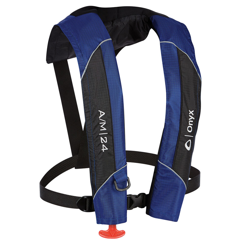New onyx a m 24 automatic manual inflatable life jacket for Fishing life jacket