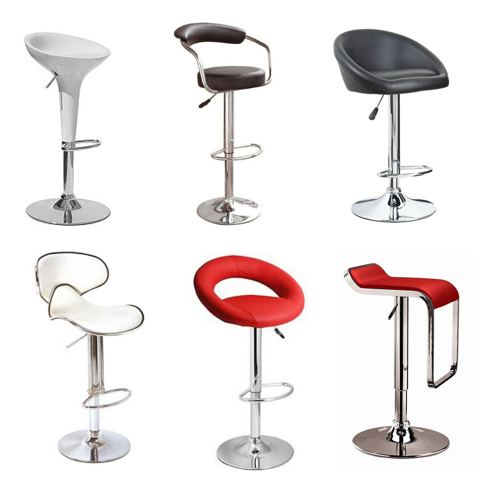 Faux Leather Kitchen Breakfast Bar Stool Pub Barstools Swivel Pu New Stools Seat Ebay