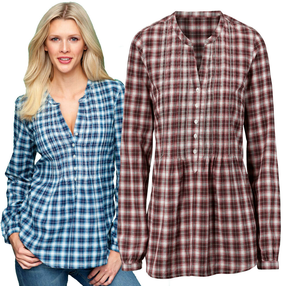 ladies checked shirts womens size uk 14 check blouse plus