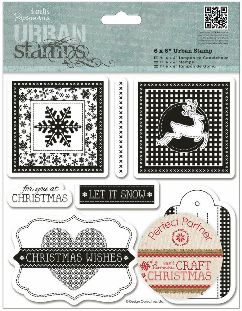 Papermania craft christmas rubber stamps christmas wishes for Custom craft rubber stamps