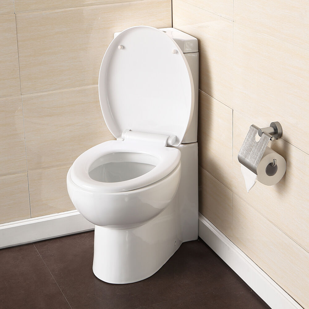 Bathroom WC Cloakroom Corner Close Coupled Toilet Pan